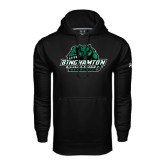 Under Armour Black Performance Sweats Team Hoodie-Binghamton University Bearcats Official Logo