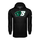 Under Armour Black Performance Sweats Team Hoodie-Bearcat Head w/ B