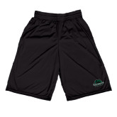 Russell Performance Black 9 Inch Short w/Pockets-Binghamton University Bearcats Official Logo