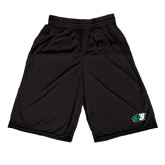 Russell Performance Black 9 Inch Short w/Pockets-Bearcat Head w/ B