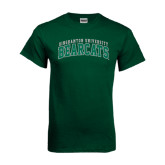 Dark Green T Shirt-Arched Binghamton University Bearcats