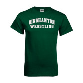 Dark Green T Shirt-Arched Wrestling Design