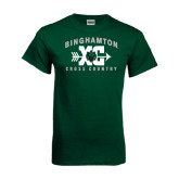 Dark Green T Shirt-Arched Cross Country XC Design