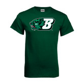 Dark Green T Shirt-Bearcat Head w/ B