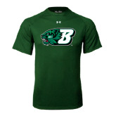 Under Armour Dark Green Tech Tee-Bearcat Head w/ B