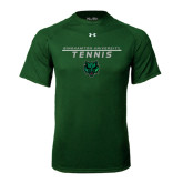 Under Armour Dark Green Tech Tee-Tennis Stacked Design
