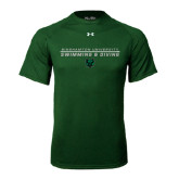 Under Armour Dark Green Tech Tee-Swim and Dive Stacked Design