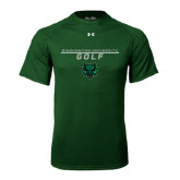 Under Armour Dark Green Tech Tee-Golf Stacked Design