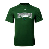 Under Armour Dark Green Tech Tee-Crossed Bats Baseball Design