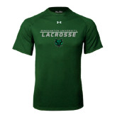 Under Armour Dark Green Tech Tee-Lacrosse Stacked Design