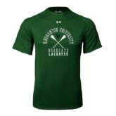 Under Armour Dark Green Tech Tee-Lacrosse Crossed Sticks Design