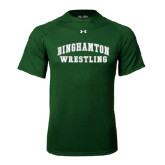 Under Armour Dark Green Tech Tee-Arched Wrestling Design