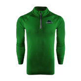 Under Armour Dark Green Tech 1/4 Zip Performance Shirt-Binghamton University Bearcats Official Logo