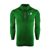 Under Armour Dark Green Tech 1/4 Zip Performance Shirt-Bearcat Head w/ B