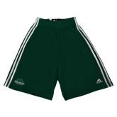 Adidas Climalite Dark Green Practice Short-Binghamton University Bearcats Official Logo