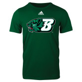 Adidas Dark Green Logo T Shirt-Bearcat Head w/ B