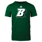 Adidas Dark Green Logo T Shirt-B