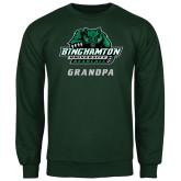 Dark Green Fleece Crew-Grandpa