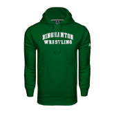 Under Armour Dark Green Performance Sweats Team Hoodie-Arched Wrestling Design