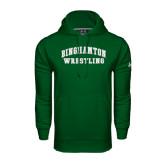 Under Armour Dark Green Performance Sweats Team Hood-Arched Wrestling Design