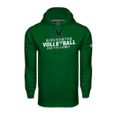 Under Armour Dark Green Performance Sweats Team Hoodie-Can You Dig It - Volleyball Design
