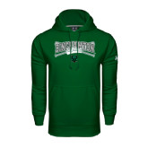 Under Armour Dark Green Performance Sweats Team Hoodie-Softball Crossed Bats Design