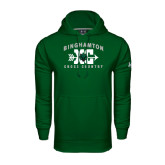 Under Armour Dark Green Performance Sweats Team Hoodie-Arched Cross Country XC Design