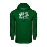 Under Armour Dark Green Performance Sweats Team Hood-Game Set Match Tennis Design
