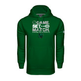 Under Armour Dark Green Performance Sweats Team Hoodie-Game Set Match Tennis Design