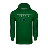 Under Armour Dark Green Performance Sweats Team Hoodie-Tennis Stacked Design