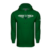 Under Armour Dark Green Performance Sweats Team Hoodie-Track and Field Design