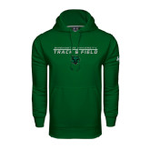 Under Armour Dark Green Performance Sweats Team Hoodie-Track and Field Stacked Design