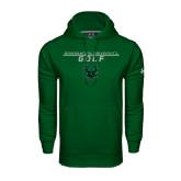 Under Armour Dark Green Performance Sweats Team Hoodie-Golf Stacked Design