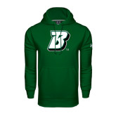 Under Armour Dark Green Performance Sweats Team Hood-B