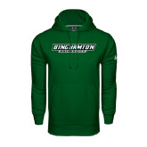 Under Armour Dark Green Performance Sweats Team Hoodie-Binghamton University Flat