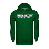 Under Armour Dark Green Performance Sweats Team Hood-Lacrosse