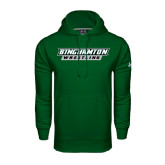 Under Armour Dark Green Performance Sweats Team Hood-Wrestling