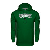 Under Armour Dark Green Performance Sweats Team Hoodie-Crossed Bats Baseball Design
