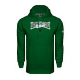 Under Armour Dark Green Performance Sweats Team Hoodie-Crossed Bats Baseball Design