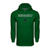 Under Armour Dark Green Performance Sweats Team Hoodie-Baseball Stacked Design