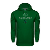 Under Armour Dark Green Performance Sweats Team Hoodie-Soccer Ball Design