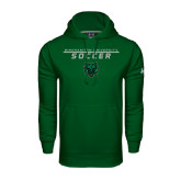 Under Armour Dark Green Performance Sweats Team Hoodie-Soccer Stacked Design