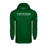 Under Armour Dark Green Performance Sweats Team Hoodie-Lacrosse Stacked Design
