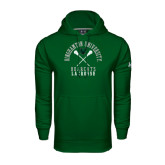 Under Armour Dark Green Performance Sweats Team Hoodie-Lacrosse Crossed Sticks Design