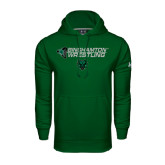 Under Armour Dark Green Performance Sweats Team Hoodie-Wrestling Helmet Design