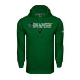 Under Armour Dark Green Performance Sweats Team Hoodie-Wrestling Helmet Design