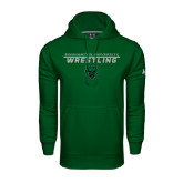 Under Armour Dark Green Performance Sweats Team Hoodie-Wrestling Stacked Design