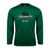 Performance Dark Green Longsleeve Shirt-Dad