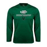 Syntrel Performance Dark Green Longsleeve Shirt-Cross Country XC Design