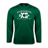 Performance Dark Green Longsleeve Shirt-Arched Cross Country XC Design